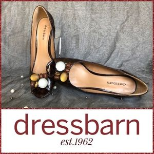 🆕🌟NEW NEVER WORN WOMENS EMBELLISHED BROWN HEELS